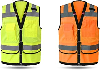 سترة عاكسة للضوء للسلامة من إكستوم ملابس العمل الأمنية ملابس العمل ليلا الدراجات النارية تحذير صدرية أمان