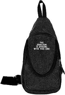 Arvolas Sling Bag Crossbody El Sarcasmo es Fuerte con Esta Bolsa de Cofre de Lona de un Solo Hombro antirrobo para Hombres...