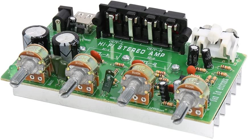 uxcell It is very popular DC 12V-15V 200W Hi-Fi Audio Power New popularity Board Amplifier Stereo