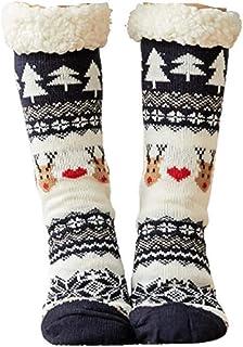 Tammy Yerke, Calcetines antideslizantes para mujer, vellón de Coral, cálido, mullido, de punto, casa, antideslizante, pantuflas, medias para mujer, niñas, invierno, Navidad, calcetines