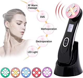 Face Lifting Machine, MYSWEETY 5 in 1 R-F Skin Tightening Machine EMS Massager for Wrinkle Remover Anti-aging Colors Light Beauty Device