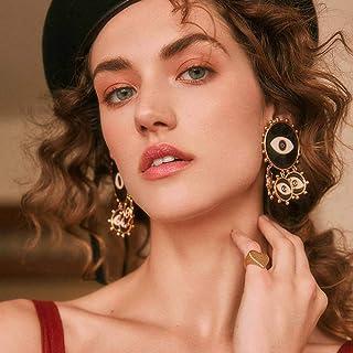 Denifery Vintage Mascot Demon Eyes Earrings Blue Earrings Bohemian Statement Earrings for Women Girls Daily Party