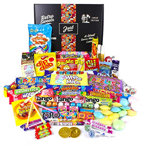 * Bestseller * Just Treats Retro Sweets Gift Box with 42 favourites. Very highly rated by customers.