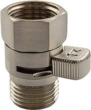 Shower Valve, Aomasi Brass Construction Water Flow Restrictor High Pressure Controller Universal Handheld Shower Hose Bidet Sprayer Switch with Lever Handle Brushed Nickel