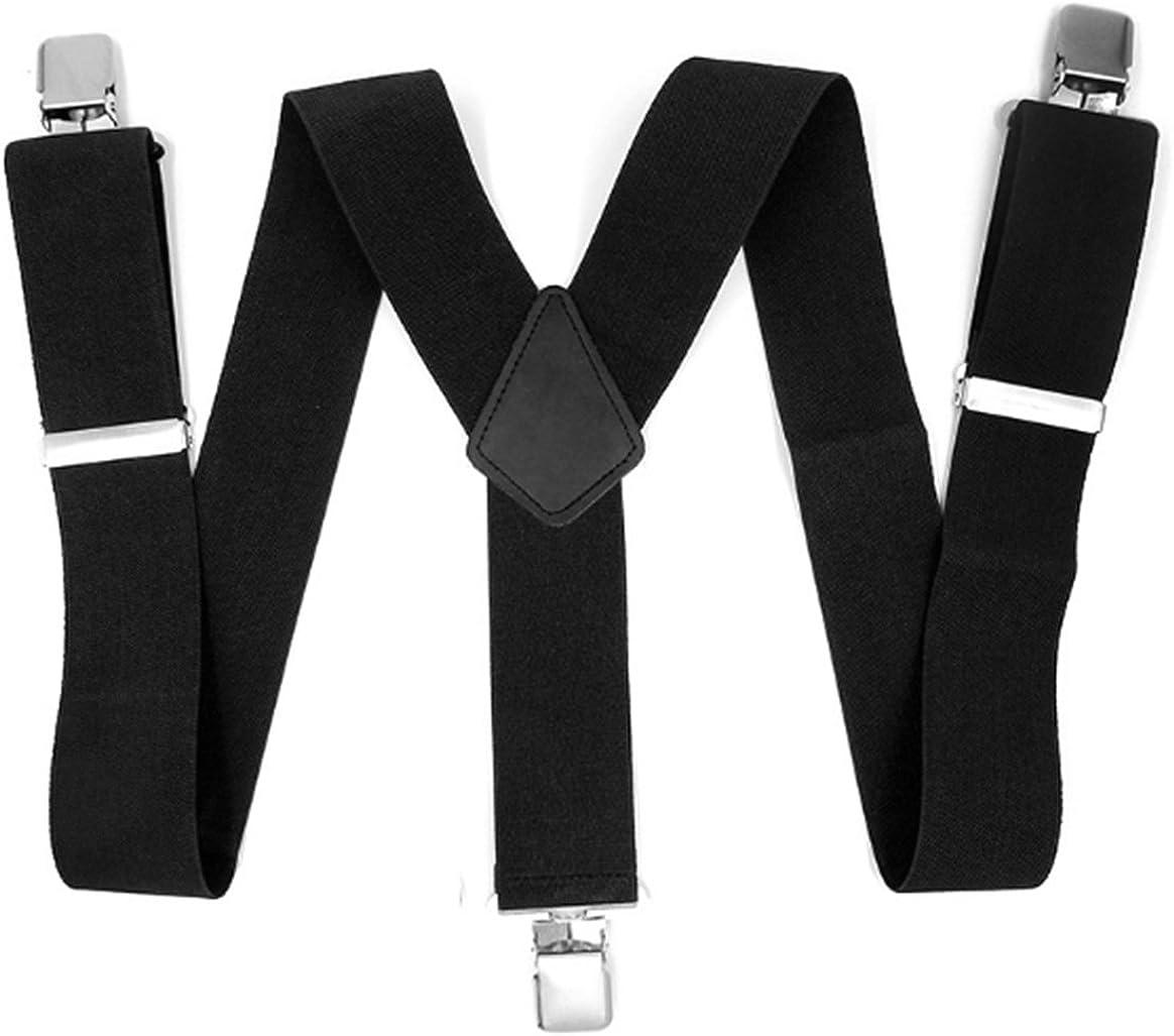 YUNEE Straps Braces 3 Clips Adjustment Elastic Strong Suspenders Jeans Trousers Braces