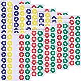400 Piezas de Etiqueta Autoadhesiva de Reforzamiento para Reparar y Fortalecer Agujeros, Redondo, Multicolor