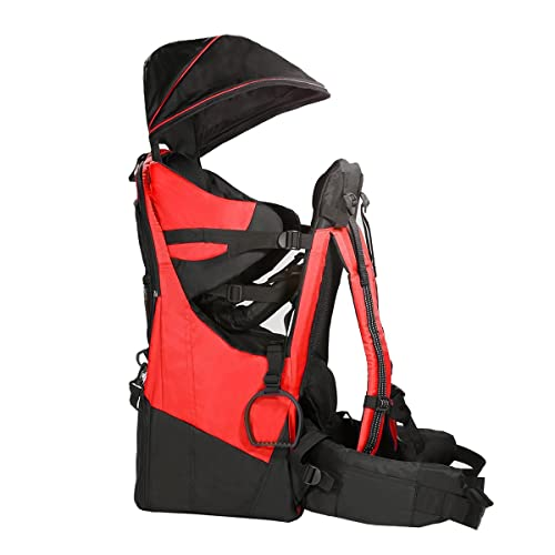 e8d244a0023 Clevr Deluxe Baby Backpack Hiking Toddler Child Carrier Lightweight with  Stand   Sun Shade Visor
