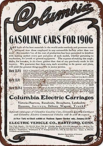 MNUT Metallschild aus Aluminium, 20,3 x 30,5 cm, Columbia Benzinautos, Vintage-Look, Reproduktion, Metall-Blechschild, 20,3 x 30,5 cm