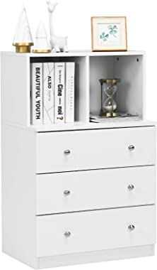 Giantex Dresser with 3 Drawers and 2 Cubbies Functional Organizer for Bedroom Closet, Hallway, Office and Living Room Storage