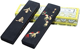 Hukaiwen Ink Block Handmade Oil Smoke Ink Stick for Chinese Traditional Calligraphy and Painting GyJy 31g