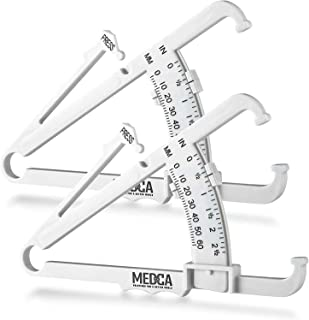 Skinfold Body Fat Caliper - Skin Fold Body Fat Analyzer and Handheld BMI Measurement Tool Skinfold Caliper Device Measures...