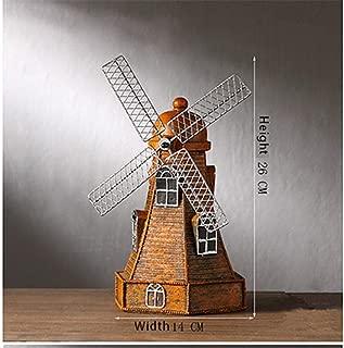 JDSHSO Vintage Resin Crafts Windmill Ornaments Piggy Bank Dutch Windmill Statue Model Home Decor Gift Windmill Sculptures