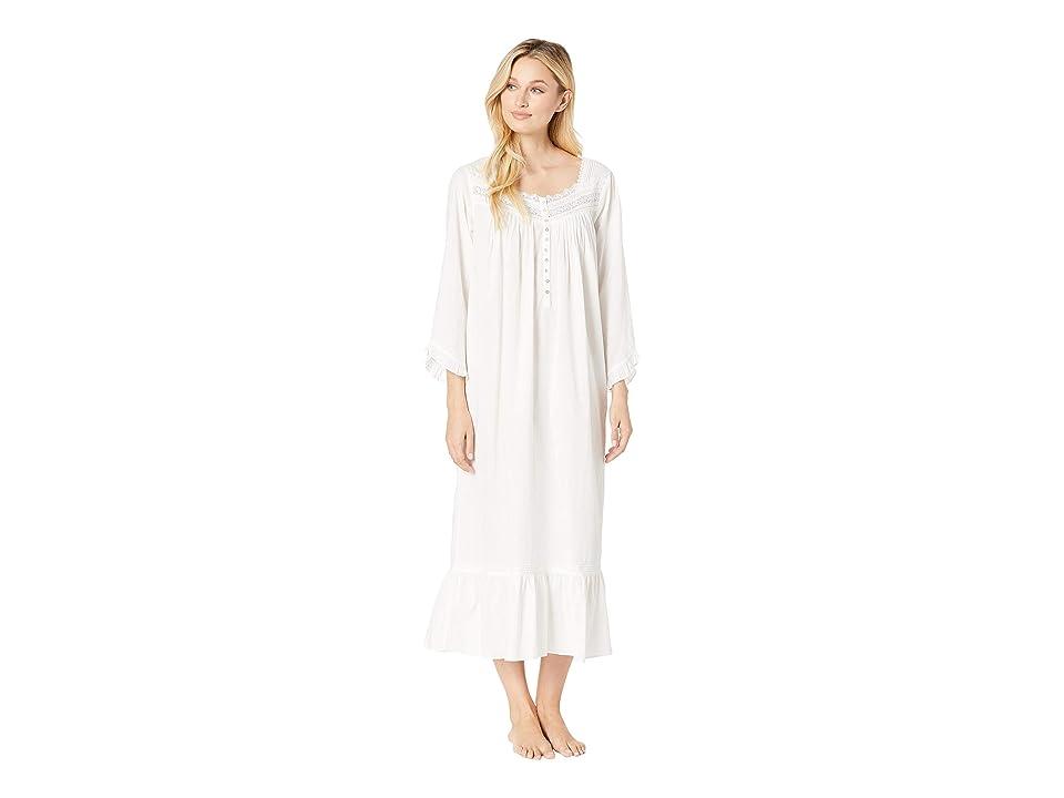 Eileen West Ballet Long Sleeve Nightgown (White) Women
