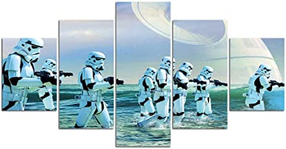 Wall Art Canvas Painting 5 piece Prints and Posters Home Decor Artwork Star Wars Wall Pictures for Living Room-With frame