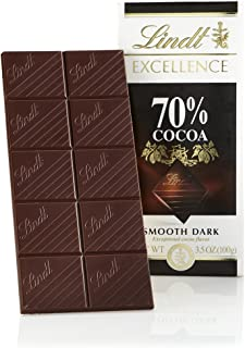Lindt EXCELLENCE 70% Cocoa Dark Chocolate Bar, 3.5 oz, 12 Pack