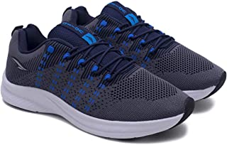 ASIAN Men's Trophy-01 Grey Blue Men's Shoes Sneakers,Ultra-Lightweight, Breathable, Walking, Fabric Running Shoes (UK-7)