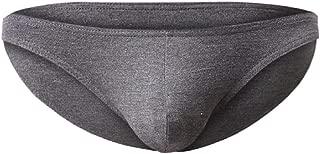 Greatfun Underwear Mens Elastic Antibacterial Underwear Men Boxer Briefs Sport Casual Pants Shorts Bulge Pouch Soft Underpants Cotton Bamboo Fiber Summer Black
