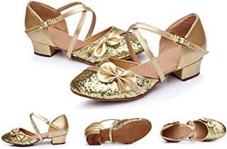lcky Girl Buckle Waltz Dance Shoes Latin Dance Shoes Sequin Sandals