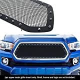 APS Compatible with 2016-2017 Toyota Tacoma Stainless Steel Black Rivet Stud Mesh Grille TL6358H
