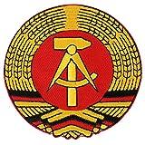 Aufnäher Aufbügler Patch DDR Fahne 8cm