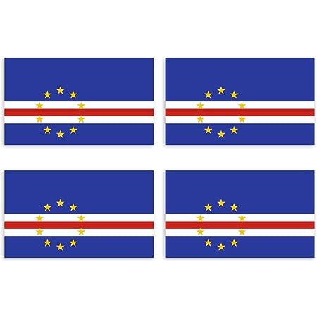 Kiwistar Aufkleber 4 5 X 2 6 Cm Kap Verde Land Staat Autoaufkleber Flagge Länder Wappen Fahne Sticker Kennzeichen Auto
