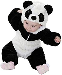 Boys Girls Winter Flannel Panda Bunting Outfits Snowsuit Romper Outwear