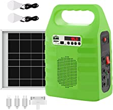Portable Solar Generator,Portable Solar Generator with Solar Panel,Solar Power Generator Kit,Camping Fishing Emergency Electric Generator,Solar Powered Charger,Lithium Battery Backup Power (Green)