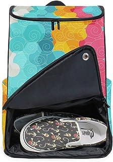 DEZIRO - Mochila para ordenador portátil, diseño de círculo, color abstracto, para mujer y hombre, colegio, colegio, mochila de negocios, mochila