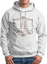 X-JUSEN Men's The Truth Is Rarely Pure And Never Simple Hoodies Hooded Sweatshirt Pullover Sweater, Long Sleeves Hooded Bodysuits Tops