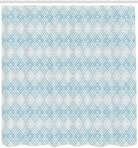 vrupi Cortina de baño luz patrón geométrico Azteca Elemento Cultural Tradicional Peruano Tela Impermeable de poliéster de 71x71 Pulgadas Que Incluye Doce Ganchos de plástico