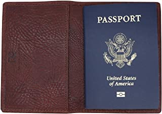 Brown Arizona Genuine Leather Passport Holder – American Factory Direct Passport Case - Made in USA by Real Leather Creations FBA684