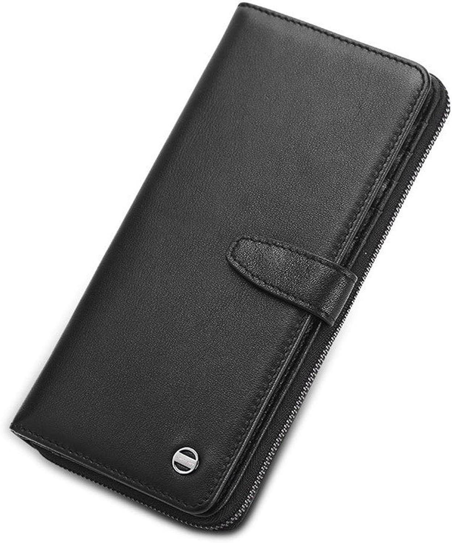 FLYSXP Herren Geldbörse Business Große Kapazität Handtaschen Multifunktions Lange Lange Lange Geldbörse Casual Mode Herren Kupplung, 9,5  19,5  2,5 cm Herrenbrieftasche (Farbe   SCHWARZ) B07KJ9JD6H 19e2c4