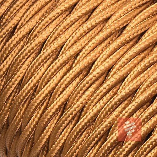Textilkabel für Lampe, verseilt (geflochten), dreiadrig - 3x0,75mm², Whiskey (Hellbraun) - 3 Meter