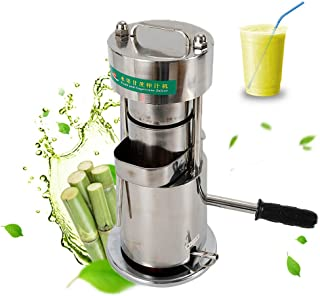 WUPYI Juicer Machine,Manual Sugar Cane Juicer,10T Hydraulic Hand Press Fruit Sugarcane Extractor Squeezer Machine,Stainless Steel,US Stock