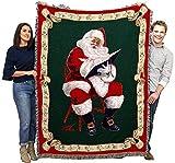 Christamas Santas Notes - Donald Zolan - Cotton Woven Blanket Throw - Made in The USA (72x54)