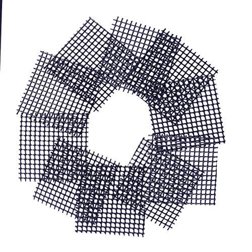 Hemoton Kunststoff Blumentopf Mesh Pad Abdecknetze für Bonsai- Und Pflanzenschalen Bonsai Gitter 50 Stück, 5 x 5 cm