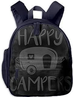Pinta Happy Camper Cub Cool School Book Bag Backpacks for Girl's Boy's