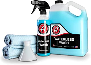 Adam's Waterless Car Wash Kit - Car Cleaning Supplies for Car Detailing | Safe Ultra Slick Lubricating Formula for Car, Bo...