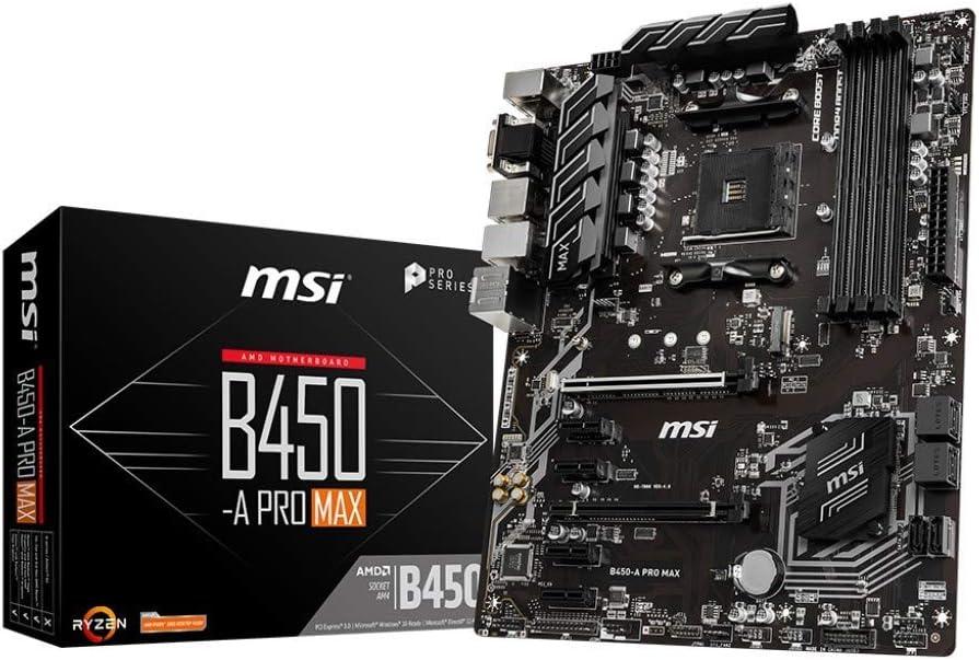 MSI B450-A Pro MAX - Placa Base Pro Series