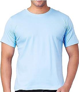 Santhome Round Neck Cotton Polo T-Shirt for Men