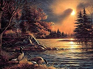 Arts Language Canvas Prints By Terry Redlin Oil Painting On Canvas Modern Wall Art Pictures For Home Decoration (20 X 24 Inch,Without Frame)