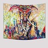Brandless Tapiz de Elefante Animales de Color Rosa con Corazones Retro Wall Hanging Wide Wall Hanging para Dormitorio Sala de Estar Dormitorio (150x100cm)
