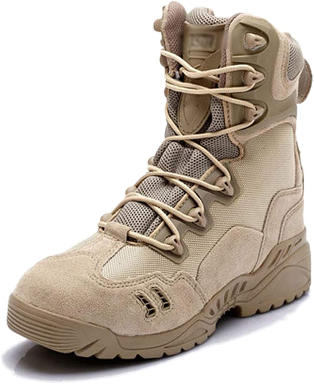Men's Combat Tactics Army Boots Desert Assault Trained shoes Special Forces Military Police Armed Boot Mountaineering shoes