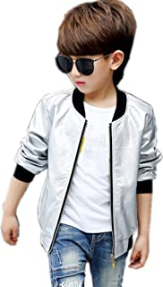 kids white bomber jacket