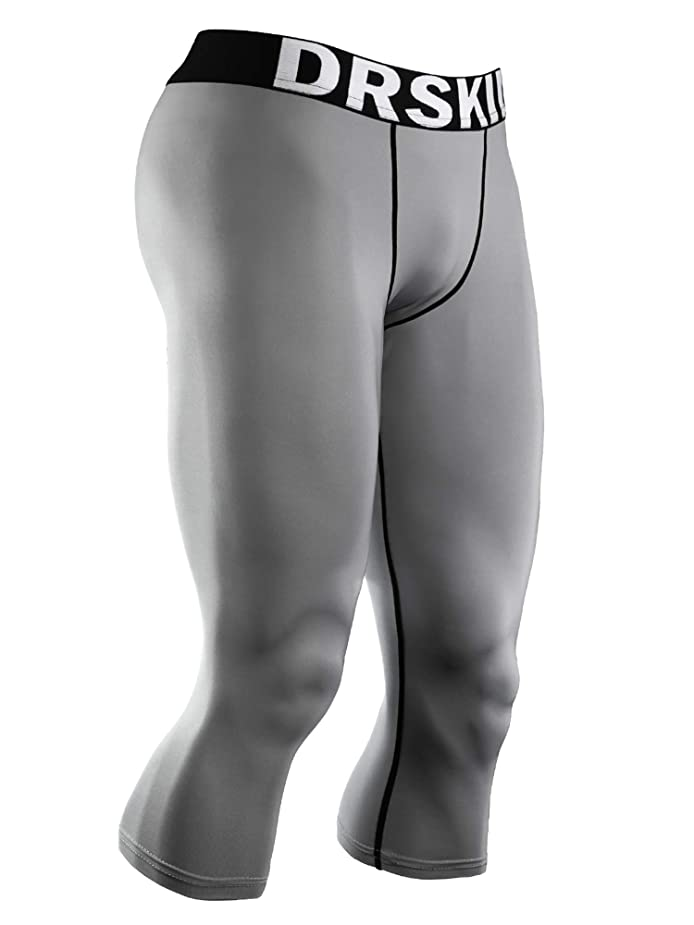 DRSKIN 1~3 Pack Men's 3/4 Compression Tight Pants Base Under Layer Running Shorts Cool Dry (Packs of 1, 2, or 3 Deals) gvpwkc7421971