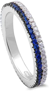 Best thin blue line sapphire ring Reviews
