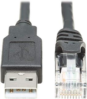 كابل وحدة التحكم القابلة للطي من Tripp Lite USB-A إلى RJ45 متوافق مع Cisco M/10 قدم (U009-010-RJ45-X)