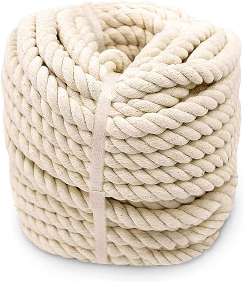 Aoneky Twisted Cotton Rope 3 4 Courier shipping Spring new work one after another free x ft 100