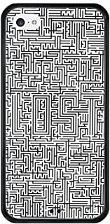 Case for iPhone 5C, Protective Cover with Tire Pattern Soft Edges Slim Thin Design Maze Puzzle Riddle