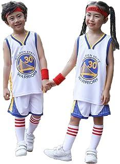 CHUANG Sports Baby Kids Set Jersey - Warriors # 30# / Lakers Kobe # 24 / Bulls Jordan # 23 / New Jersey Jerseys - Celtics # 11 / Fans De Baloncesto De Niños Y Niñas
